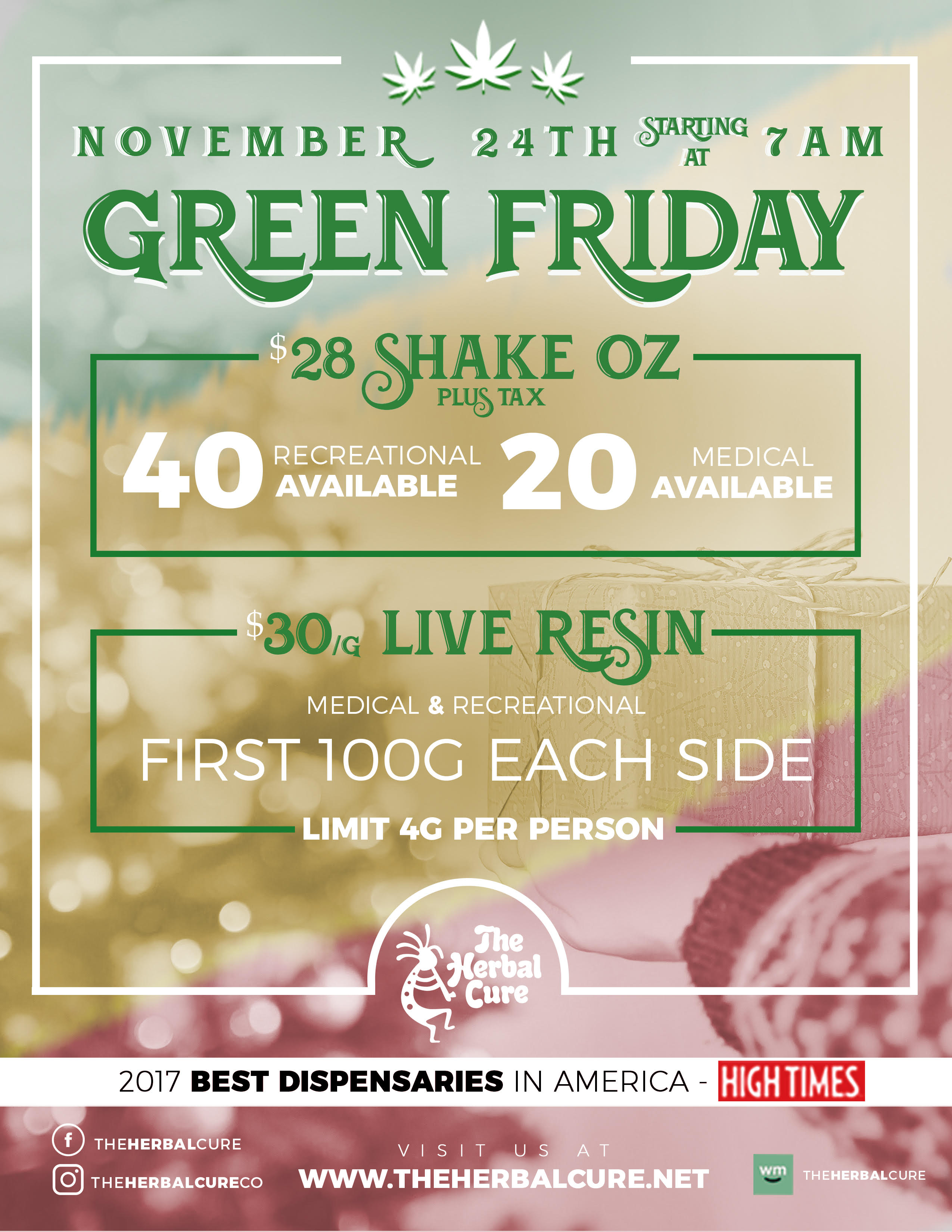 Green Friday Sales 30 Live Resin 28 Ounce Shakes More The Herbal Cure Denver S Premier Cannabis Dispensary Simply The Best